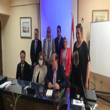 مؤسسات طيبه التعليمية توقع بروتوكول تعاون مع سفارة فلسطين بالقاهرة